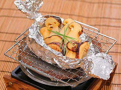 松茸のホイル焼き1