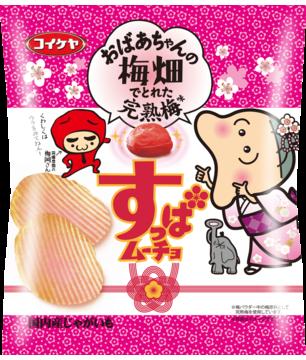コンビニ限定コイケヤ厚切りすっぱムーチョ 完熟梅味65g