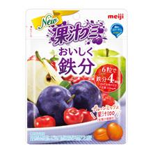 果汁グミおいしく鉄分プルーンミックス 76g